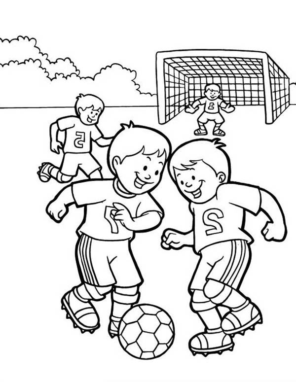 kids soccer coloring pages - photo#13