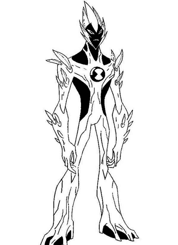Swampfire from ben 10 alien force coloring page swampfire from ben 10