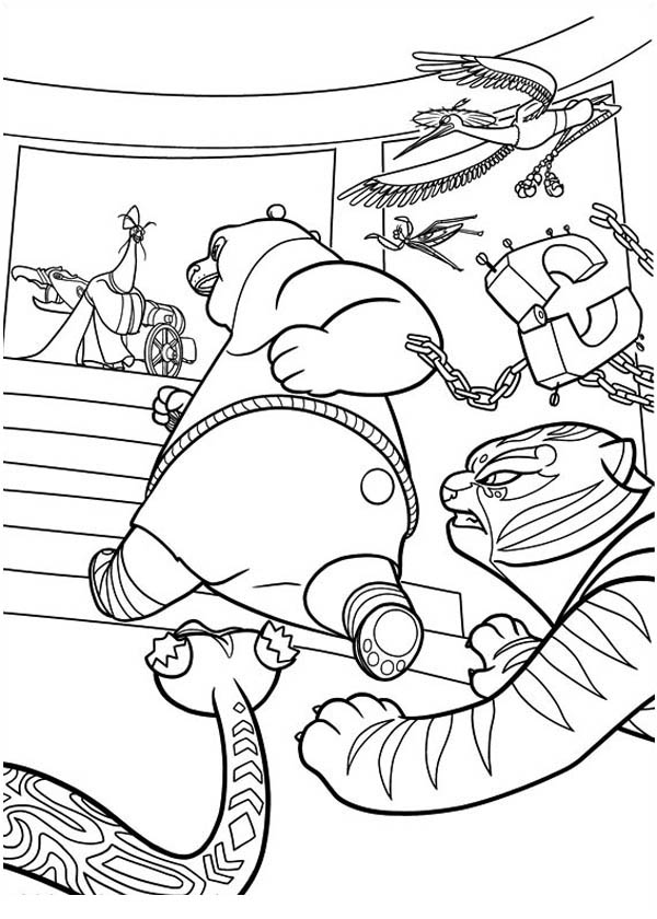 Kung fu panda coloring pages - crazywidow.info