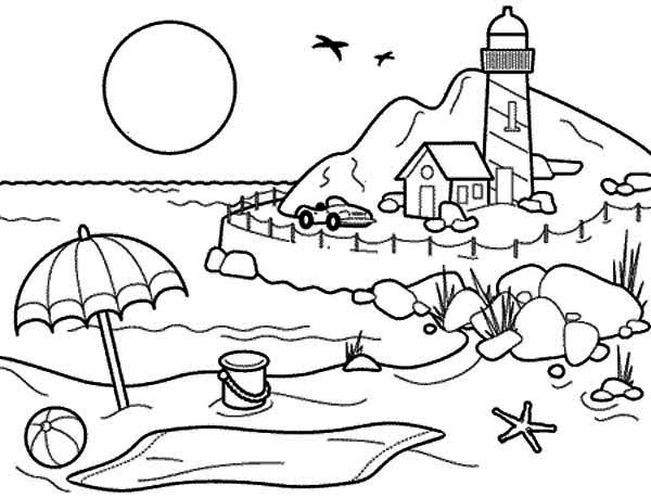 coloring pages for holidays - summertime holiday coloring page download print online