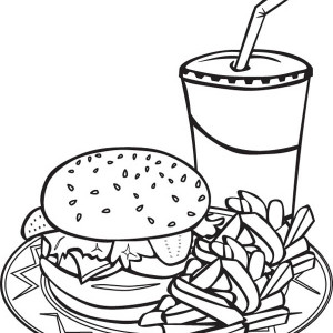 Junk Food Coloring Pages Sketch Coloring Page