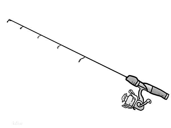 Fishing Pole Free Coloring Pages