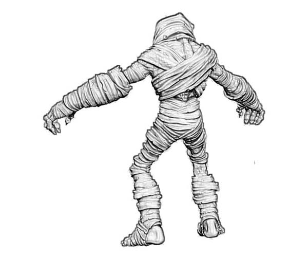 3d Mummy Model Coloring Page Download Print Online Coloring
