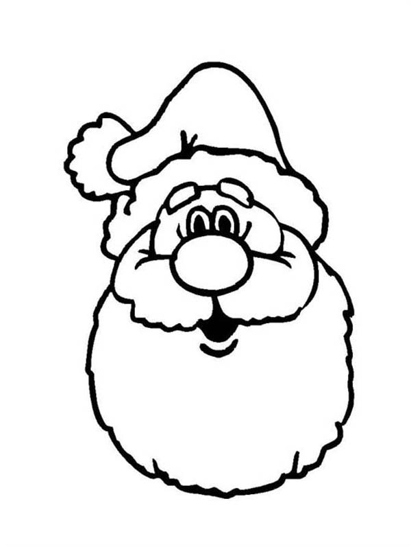 A Classic Ho Ho Ho Laugh Of Santa Claus Coloring Page