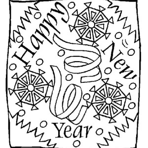 A Cool New Years Illustration For Background Coloring Page