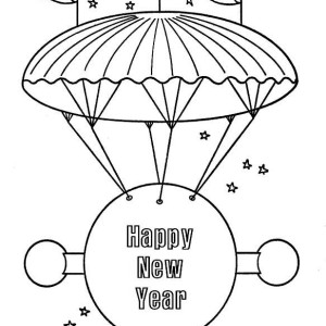 A Giant Flying New Years Board Coloring Page