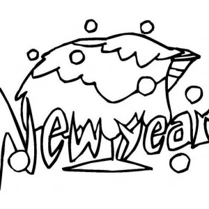 A New Year Celebration With A Glass Of Tequila Coloring Page