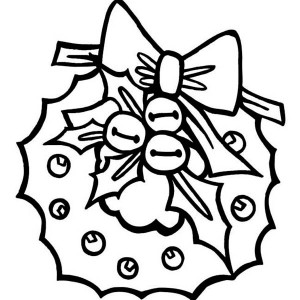 A Nice Christmas Wreath In Graphic Coloring Page