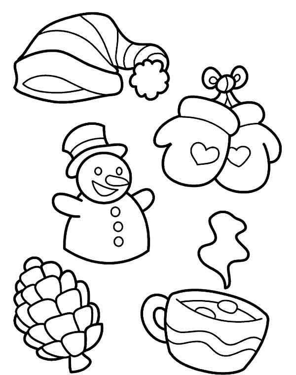 Christmas Symbols Coloring Page • FREE Printable PDF from PrimaryGames | 760x600