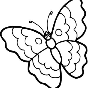 Cartoon Butterfly In Sad Eyes Coloring Page