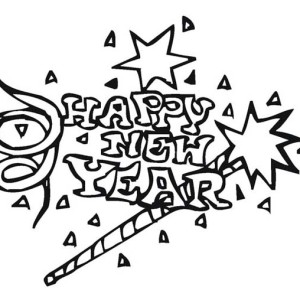 Celebrating New Year With Lots Of Firecraker Coloring Page