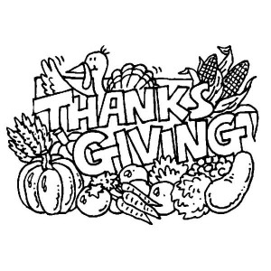 Complete Thanksgiving Day Turkey Recipes Coloring Page