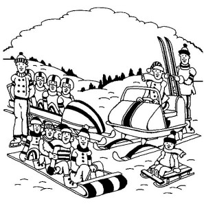 Complete Winter Sports And Activities Coloring Page