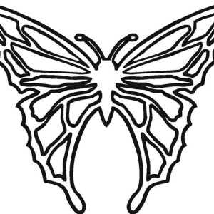 Cool Butterfly Illustration In Contemporary Style Coloring Page