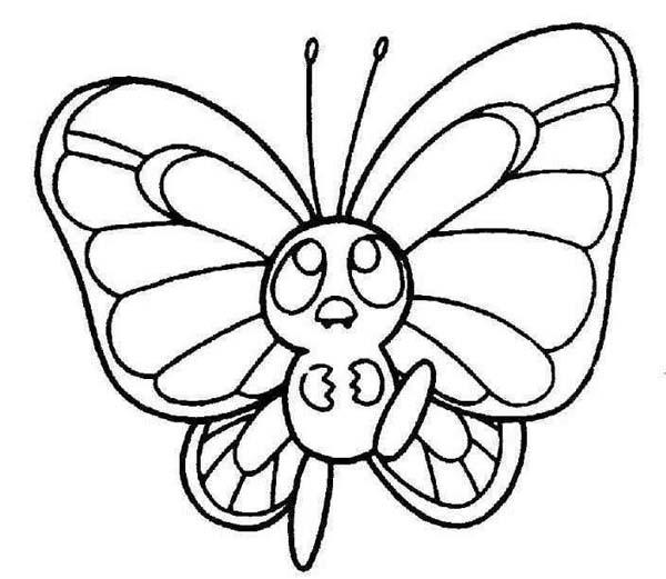 Cute Little Butterfly In A Hurry