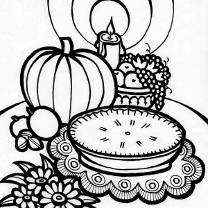 Delicious Thanksgiving Day Appetizers Coloring Page