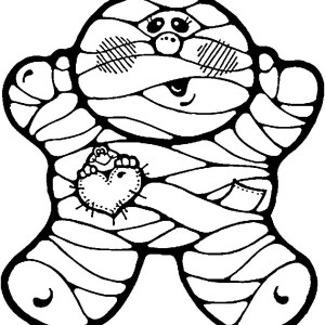 Fatty Mummy Coloring Page