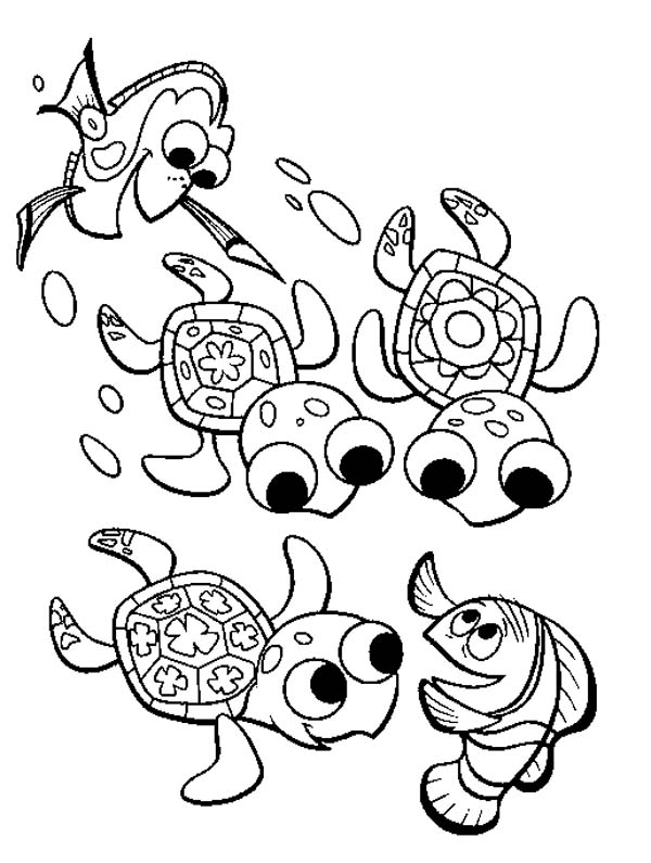 Fingding Nemo Sea Turtle Coloring Page Download Print Online
