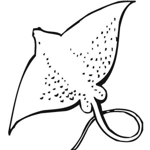 Giant Stingray   Free Sea Animals Coloring Page