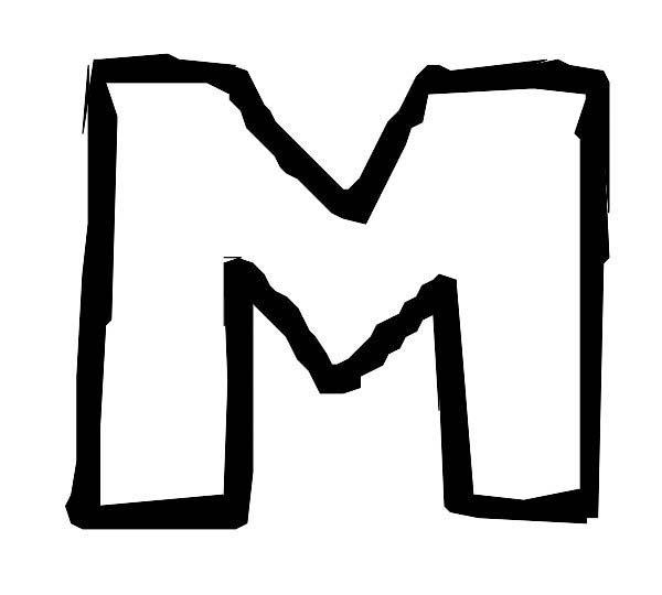 Handwriting Letter M Coloring Page