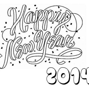 Happy New Year 2014 To You Coloring Page