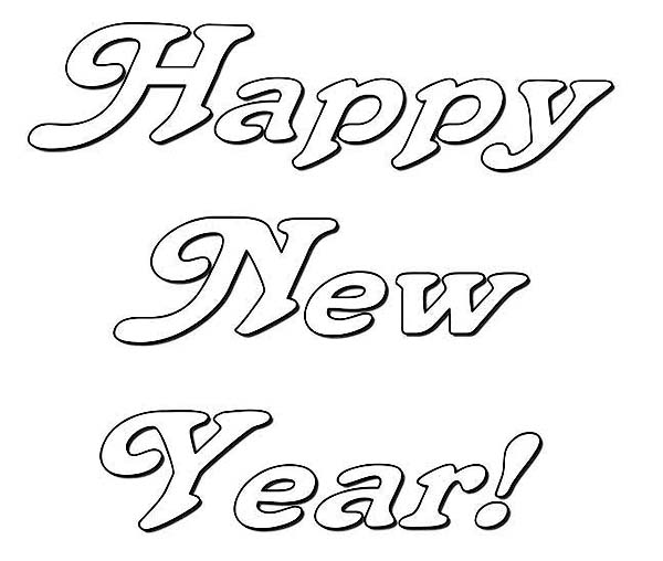 new year coloring pages 2013 | Happy New Years Party Decoration Coloring Page - Download ...