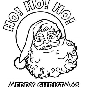 Ho Ho Ho And Happy Merry Christmas From Santa Coloring Page