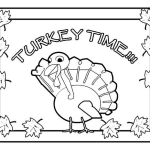 Its Turkey Time Thanksgiving Day Coloring Page