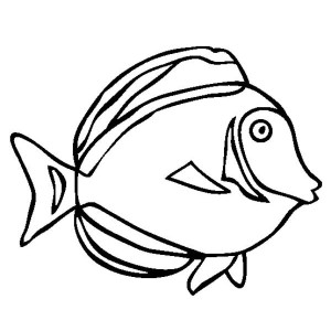 Japan Surgeonfish Free Sea Animals Coloring Page