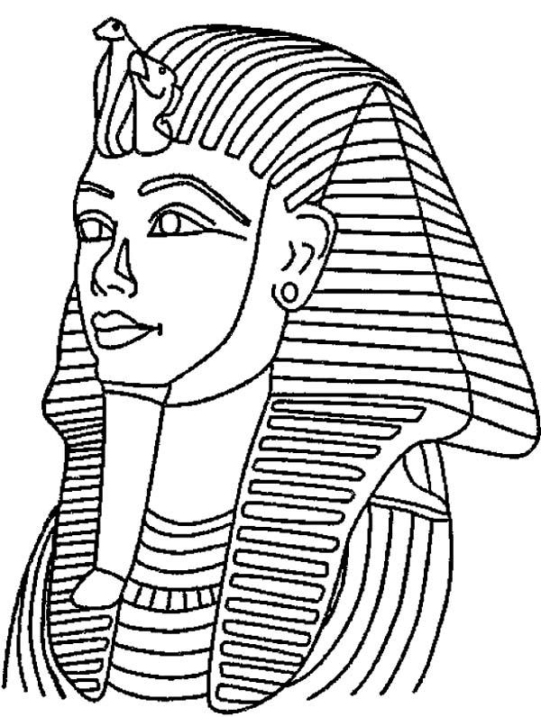 King Tut Mask Mummy Free Coloring Page - Download & Print ...