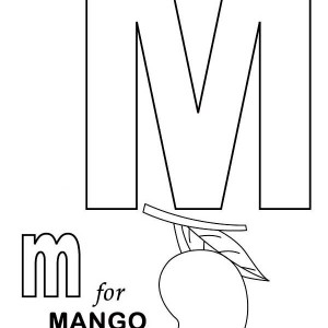 Letter M For Manggo Coloring Page