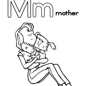 Letter M For Mother Coloring Page