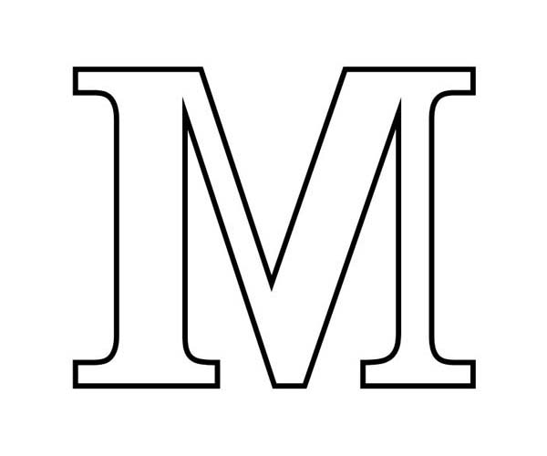 Letter M In Block Coloring Page Download Print Online Rhcolornimbus: Coloring Pages Block Letters At Baymontmadison.com