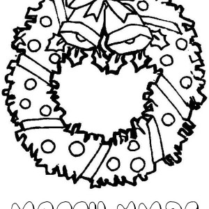 Lovely Christmas Wreath For Decoration Coloring Page