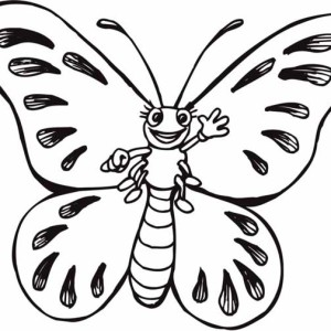 Mr Butterfly Says Hi Five Coloring Page