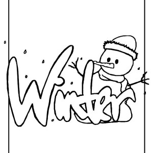 Mr Snowman Says Happy Winter To All Coloring Page
