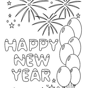 New Years Greeting Card Coloring Page