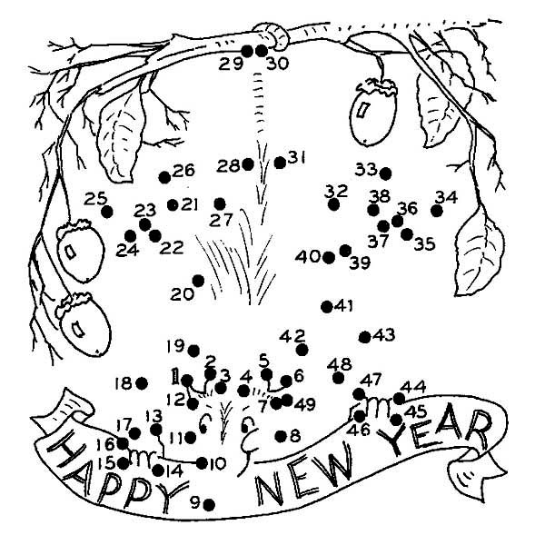 New Years Coloring Pages | 600x600
