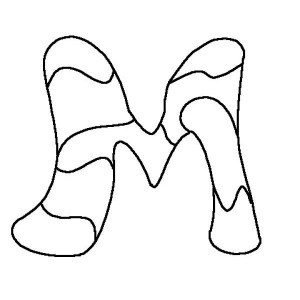 Ornamental Letter M Coloring Page