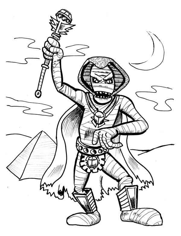 Pharaoh Mummy Free Coloring Page Download Print Online Coloring