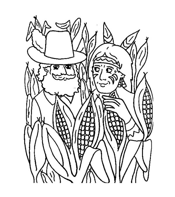 thanksgiving corn coloring pages - photo#20