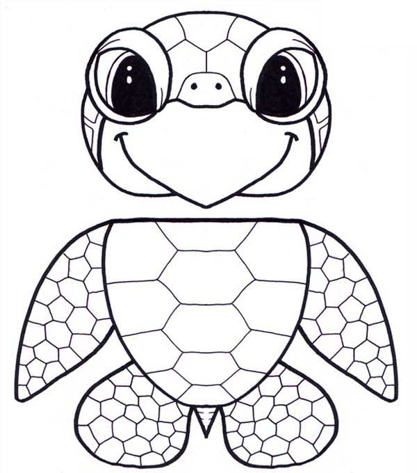 Puppet Honu Sea Turtle Free Coloring Sheet Coloring Page Download