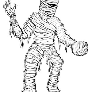 Really Scary Mummy Free Coloring Page