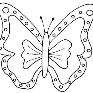 Ribbon Shaped Butterfly Coloring Page