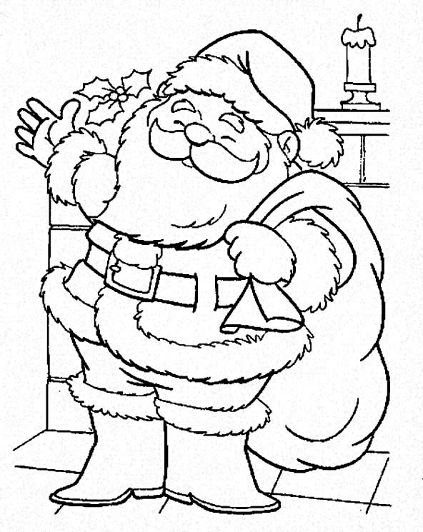 santa is coming to town coloring page