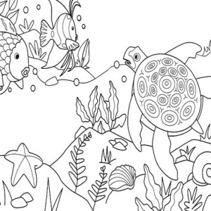 Sea Turtle Activities Free Coloring Page