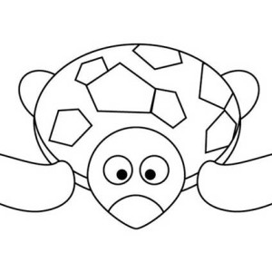 Sea Turtle Doll Coloring Page