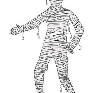 Shake Mummy Hand Coloring Page