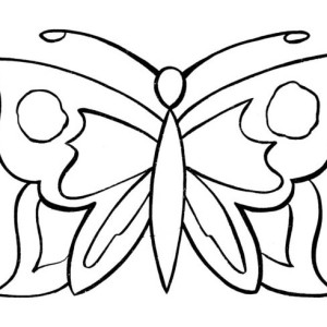 Simple Butterfly Graphic Pattern Coloring Page