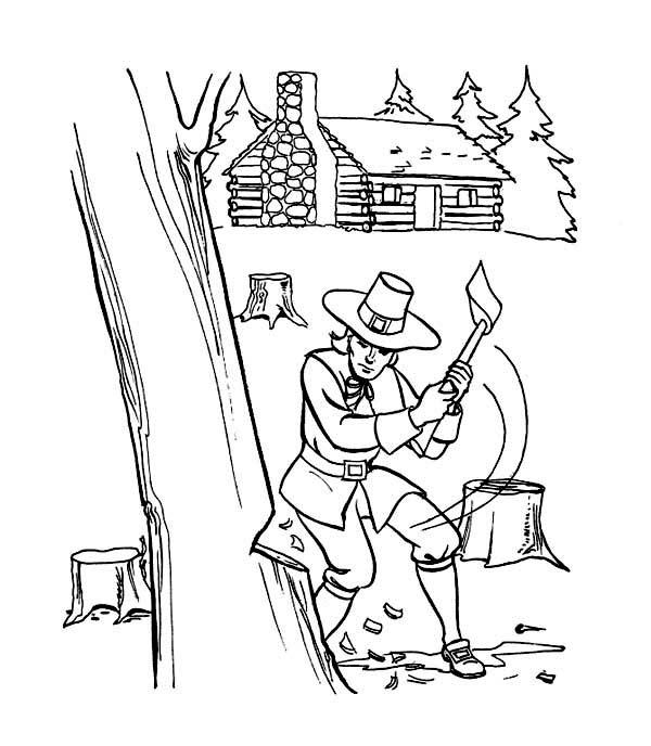 Print Thanksgiving Day Activities And Preparation Coloring Page In Full Size